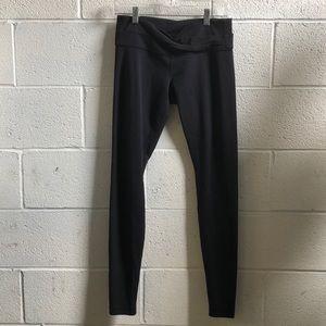 Lululemon black full legging w/ Astro band sz 8